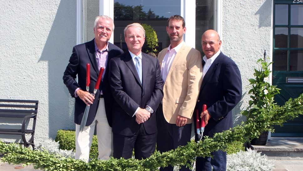 Fred Wacker, Mayor Donald P. Schoenheider, Frank Mariani Jr., Frank Mariani Sr.