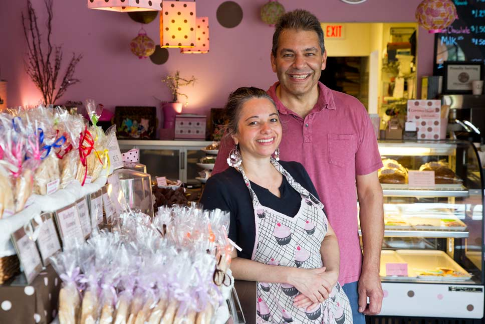 Co-owners Vicky and Larry Blanas at Laurence Dean Bakery in Wilmette. Photography by Joel Lerner/JWC Media