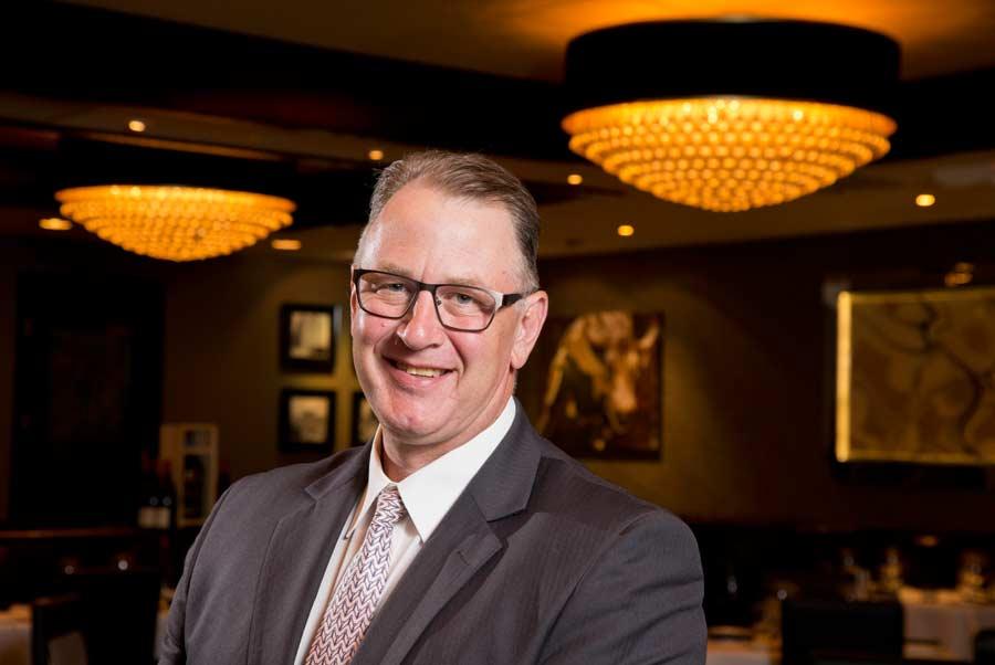 General Manager Tom Lange at Morton's The Steakhouse in Northbrook. Photography by Joel Lerner/JWC Media