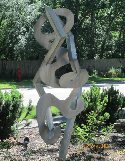 This sculpture attracted writer A.J. Goldsmith's attention, so he rang the owner's bell to learn more ...