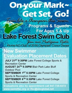 Lake Forest Swim Club New Swimmer Placement