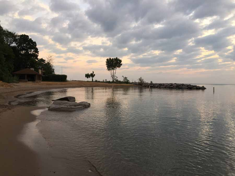 Sunrise Beach in Lake Bluff, July 2015; photo by Adrienne Fawcett