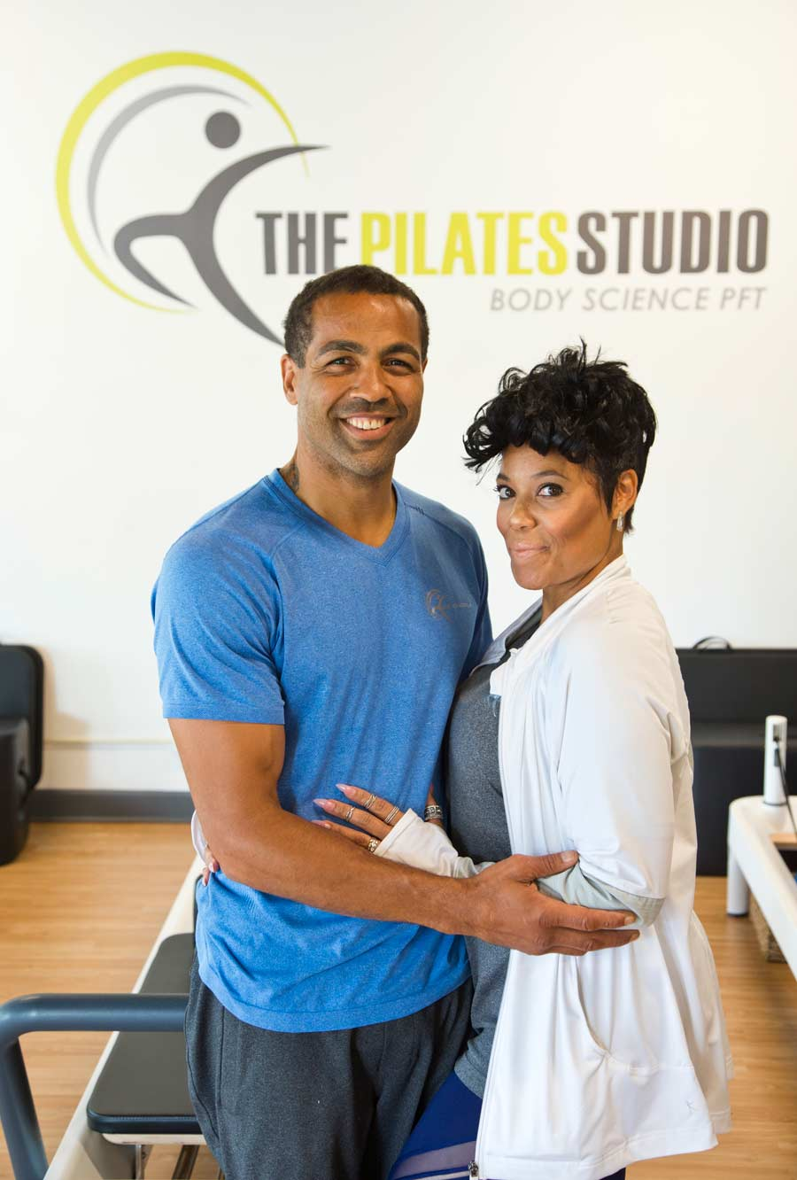 Owners Tony and Chai Duncan at the Body Science's Pilates Studio in Wilmette. The Duncans' live in Glenview Photography by Joel Lerner/JWC Media
