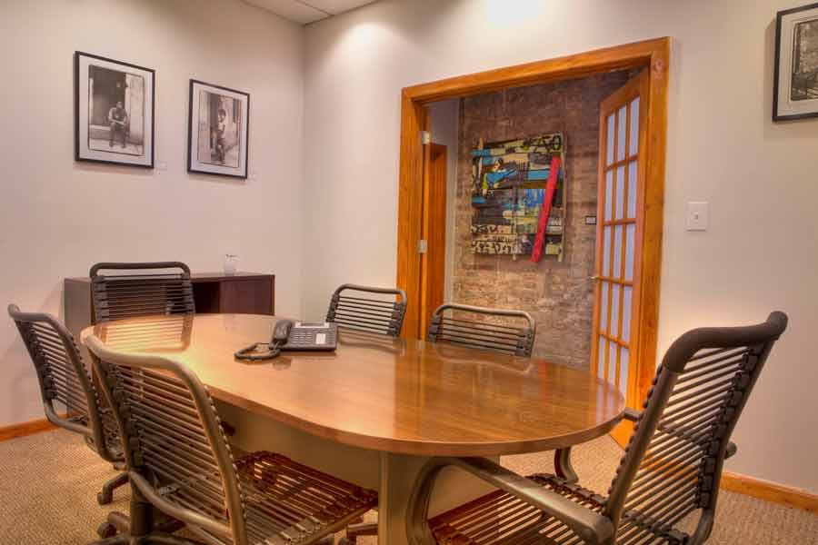 The conference room at Creative Coworking in Evanston