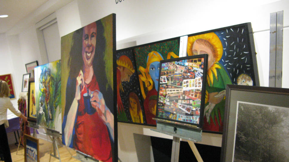 Artwork displayed at the 2015 East on Central Publishing Party.