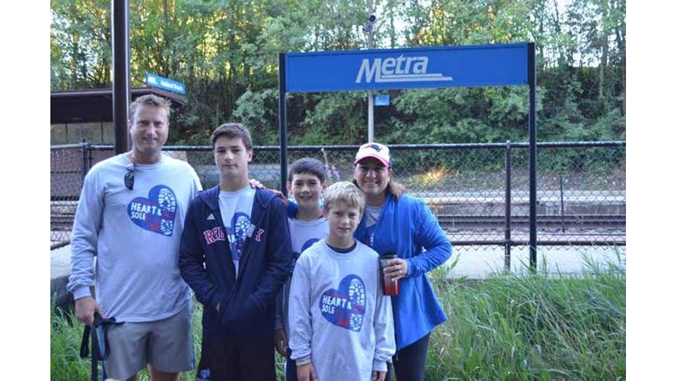 The Craddock family participated in the 5K Fun Run for Sacred Heart. Pictured are Tom, Jack, Ryan, Paul and Mindi Craddock of Glencoe