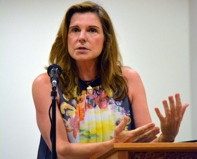 Emmy Award-winning actress Susan Saint James told those attending a dedication ceremony for the new Quiet Trail on the Woodlands Academy campus in Lake Forest that establishing it as a memorial to her 14-year-old son means a lot to her.