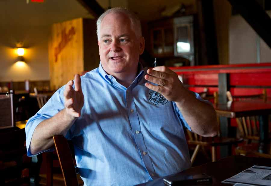Owner Dan Tarman talks shop at The Silo in Lake Bluff. Photography by Joel Lerner/JWC Media