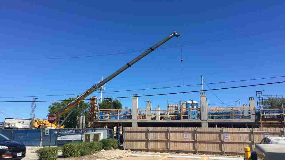Construction has begun on the apartments at 611 Green Bay Road in Wilmette.
