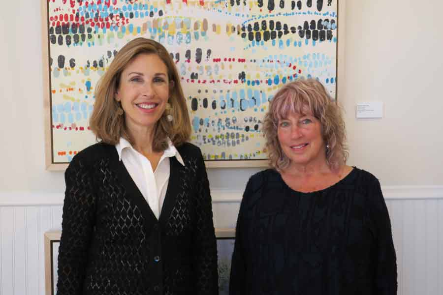 From left: Cynthia Burr and Martha Ruschman of Vivid Art Gallery