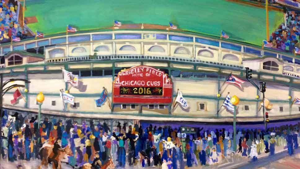 The Art of Baseball: Go Cubs!