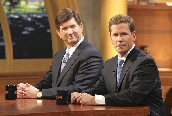 Former U.S. Rep.Brad Schneider, left, and U.S. Rep. Robert Dold