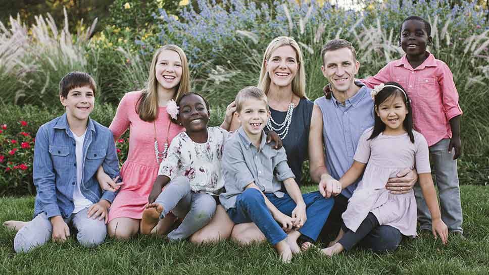 The Gallagher family opens hearts and home to orphans with special needs. PHOTOGRAPHY COURTESY OF THE GALLAGHER FAMILY