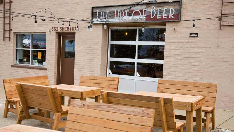 The outdoor beer garden at Art of Beer in Highwood. Photography by Joel Lerner/JWC Media