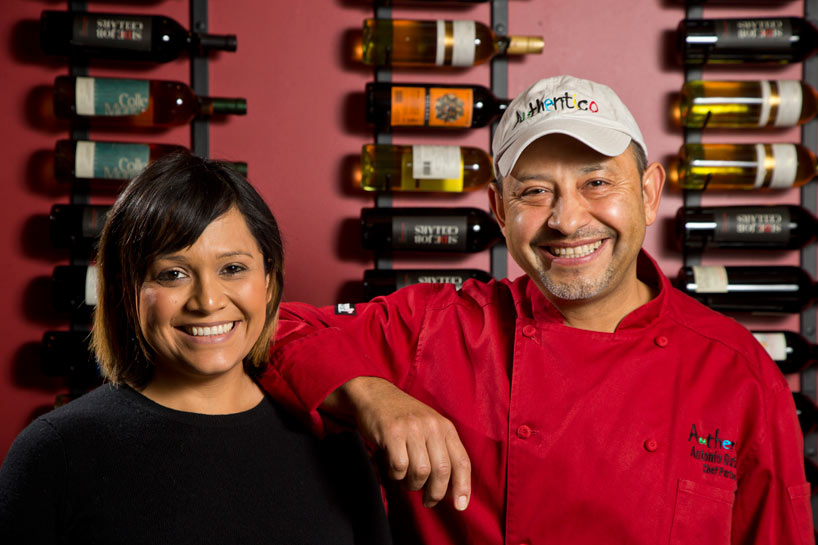 Assistant manager Marcy Ramirez and Chef Partner Antonio Gutierrez at Authentico in Lake Forest. Photography by Joel Lerner/JWC Media