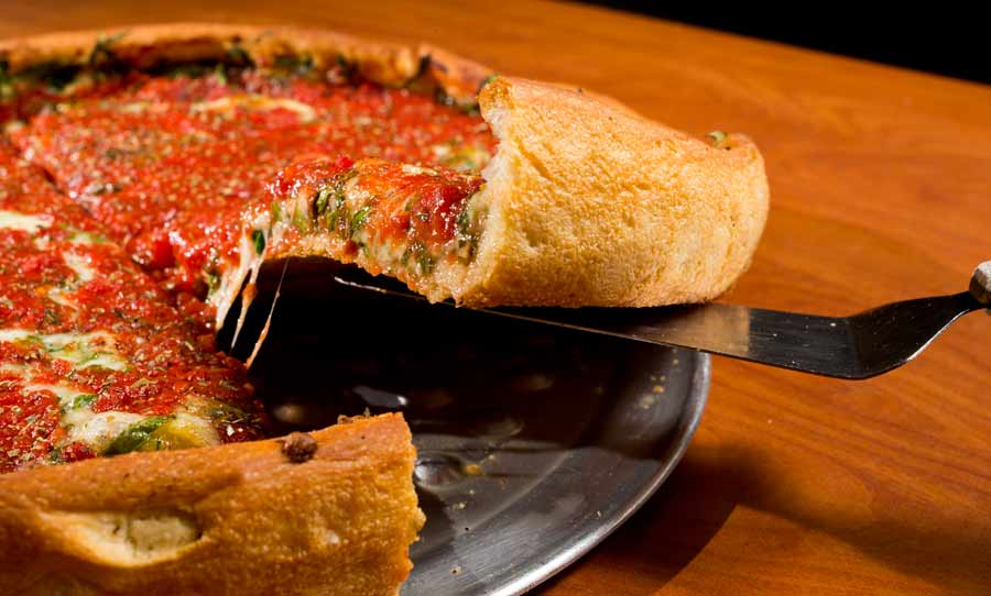 The stuffed Spinach Pizza at Ferentino's in Lake Forest. Photography by Joel Lerner/JWC Media