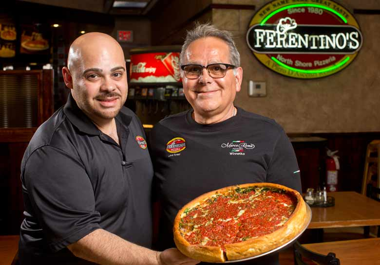 Aurelio and Piero D'Ascenzi at Ferentino's in Lake Forest. Photography by Joel Lerner/JWC Media