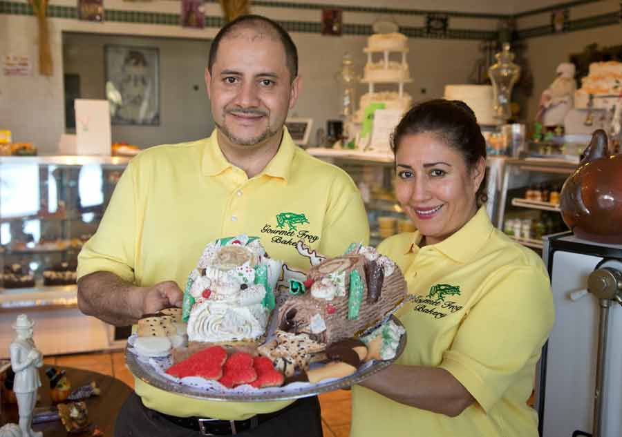 Tony and Maria Larrondo, owners of Gourmet Frog Bakery in Highwood. PHOTOGRAPHY BY JOEL LERNER/JWC MEDIA