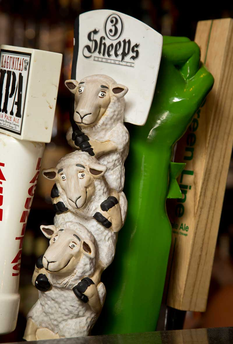 3 Sheeps is on tap at The Landmark Inn Bar and Grille in Northbrook.
