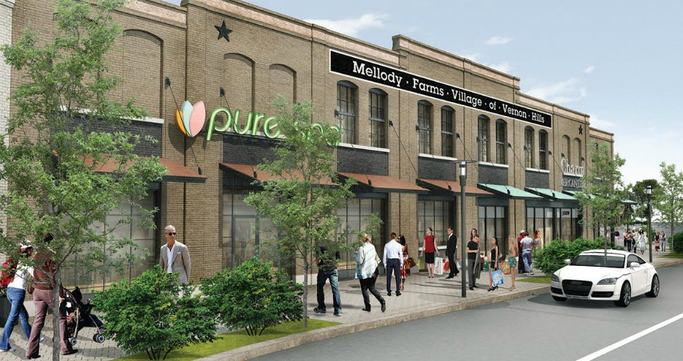 This is a rendering of some of the retail stores. Image courtesy of Regency Centers.