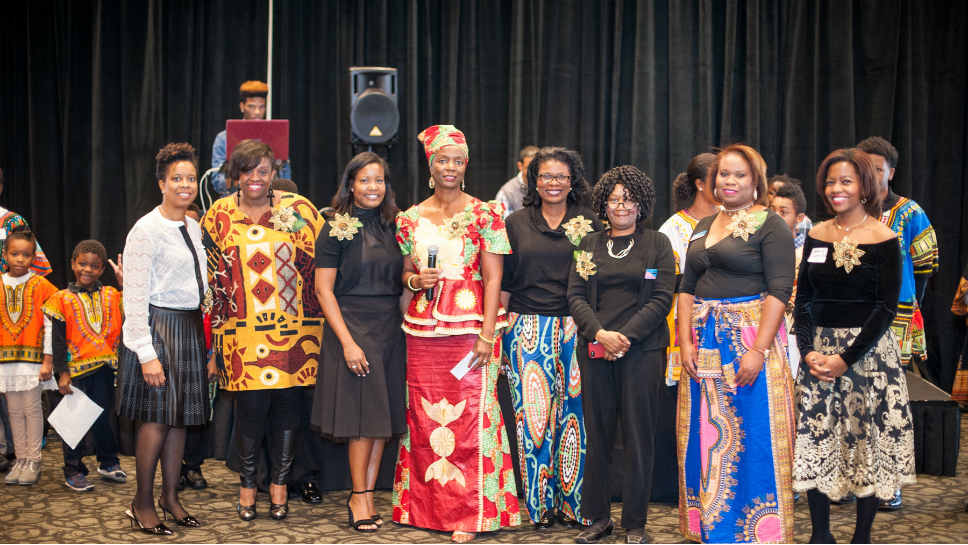 Kwanzaa Event Committee; From left: Vickie Varnado (Highland Park); Jennifer Lee (Gurnee); Cynthia Tucker (Lake Forest); Nagawa Kakumba, co-chair (Highland Park), Monica Palmer, co-chair (Lake Forest); Gioia Herring-Williams (Glenview); LaKindra Pruitt (Algonquin); Debbie-Saint-Ross (Long Grove)