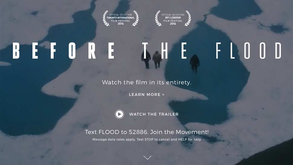 Before the Flood; Film Screening and Discussion