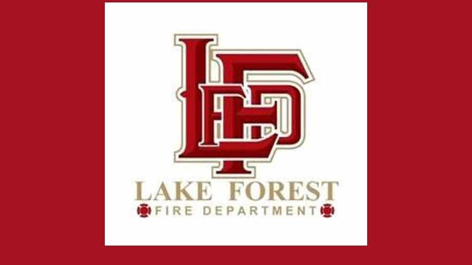No One Injured in Lake Forest Fire