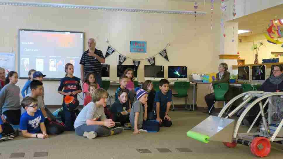 Robot Visits Greeley Students
