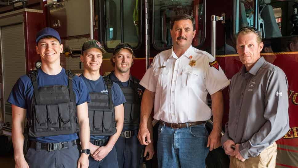 North Shore Sports Club Keeps Firefighters Safe