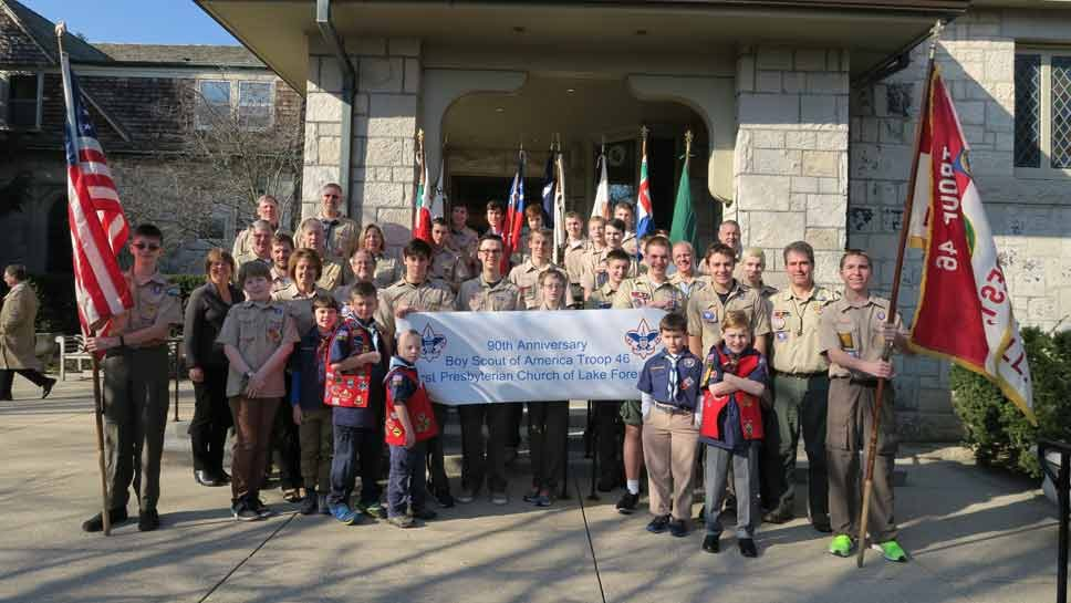 Scout Troop 46 Celebrates 90 Years