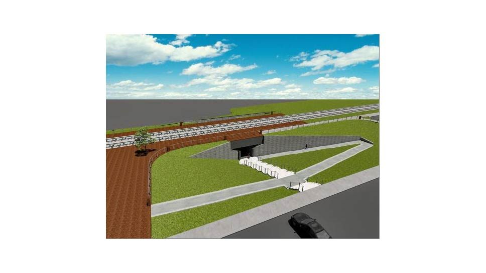 West LF Train Station Underpass Gets Closer