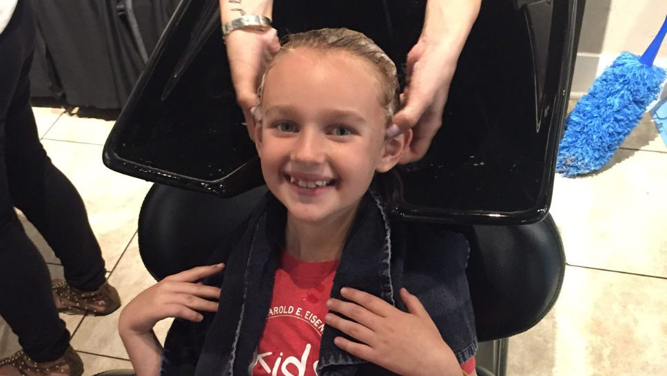 Girls Pitch in for Hair-raising Event