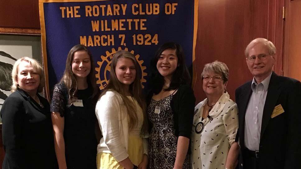 Wilmette Rotary Honors Scholarship Winners