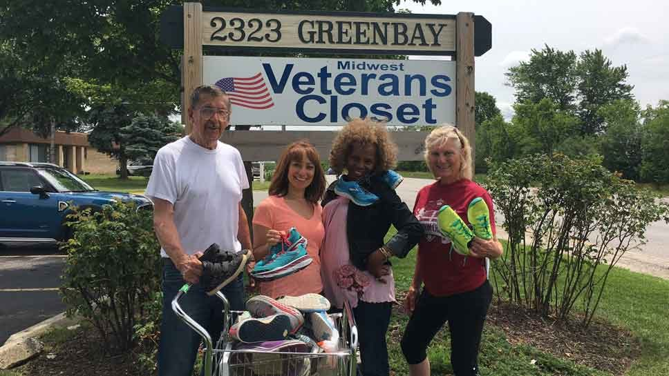 Military Families Walk in Style