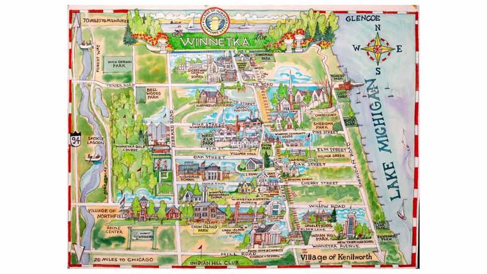 Winnetka Map A Grand Gesture