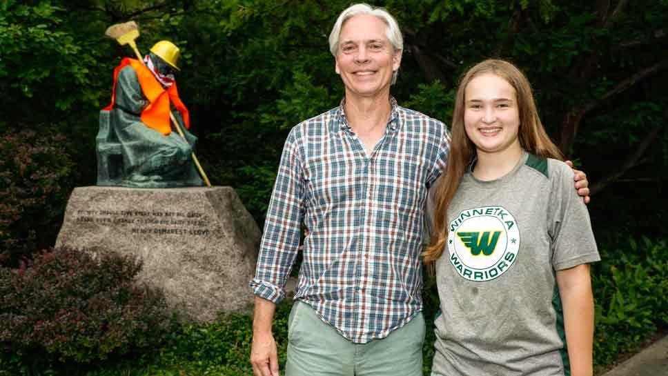 Winnetka Statue Put To Work