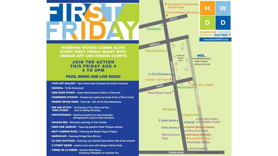 Hubbard Woods' First Friday is This Friday