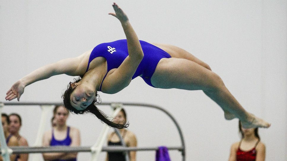 HP's Velick soars at league diving meet