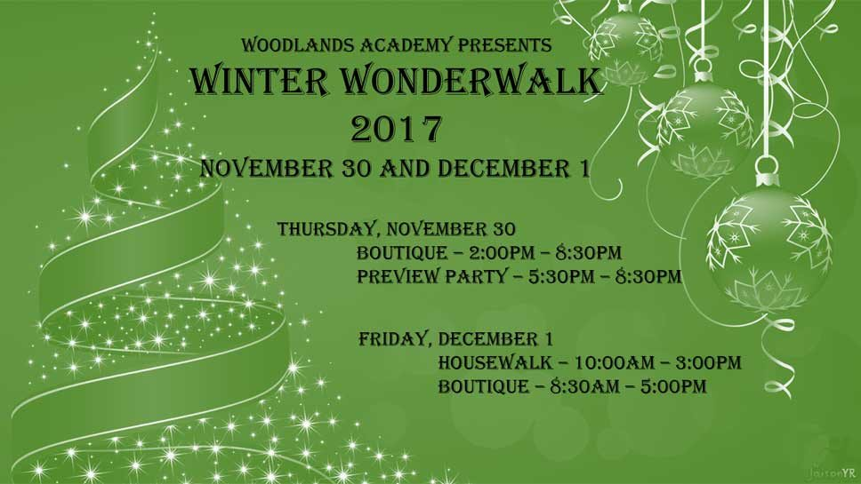 Save the Date: Woodlands Winter Wonderwalk
