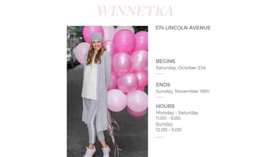 Cashmere Shop Pops Up in Winnetka