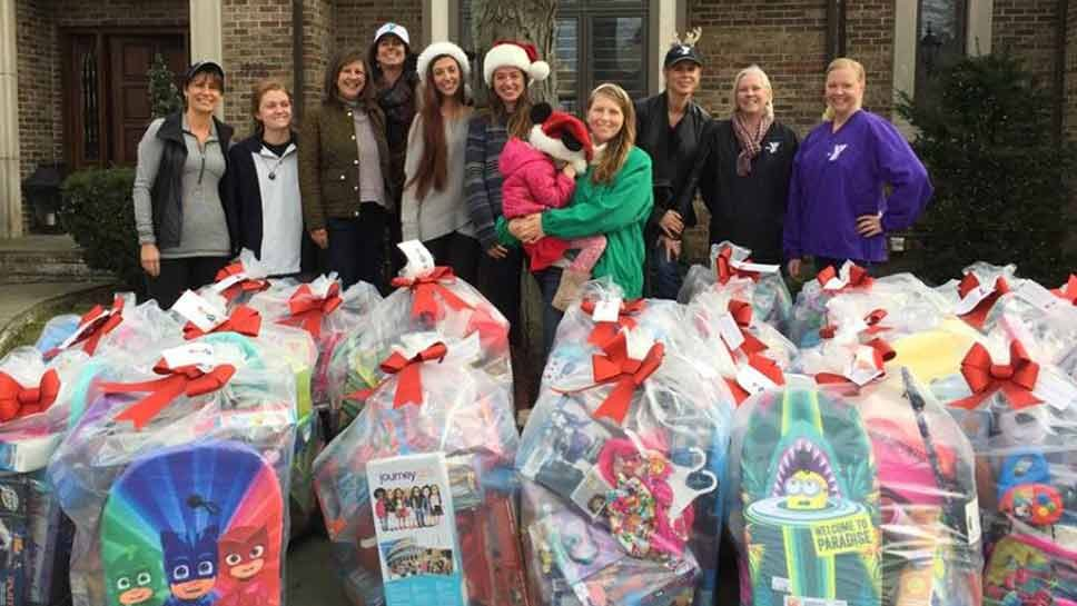 YMCA Volunteers Share Toy Donations