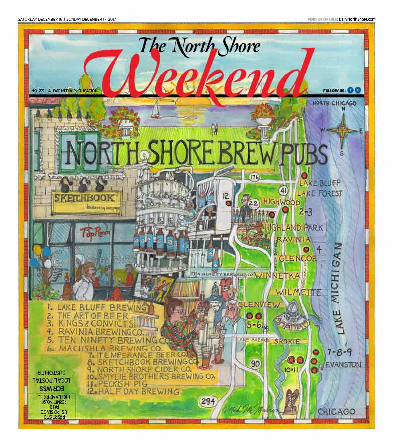 Take A Craft Beer Tour On The North Shore - Beer Map Of The Us