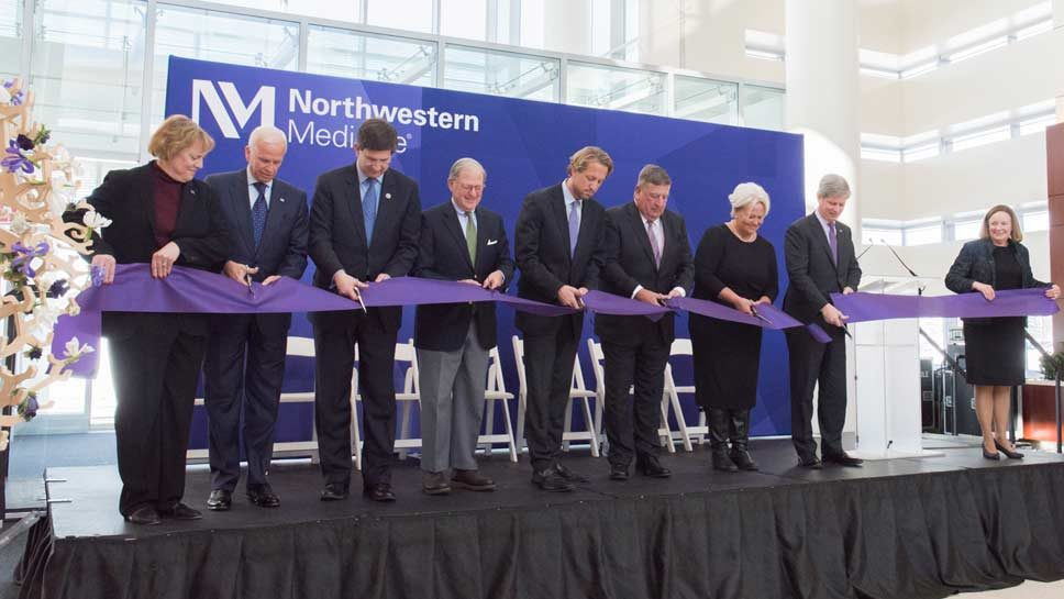 Ribbon Is Cut at Lake Forest Hospital