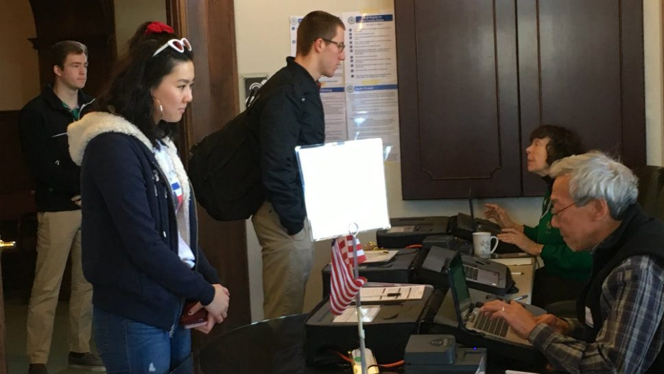 lake forest high school students walk out some vote as ...