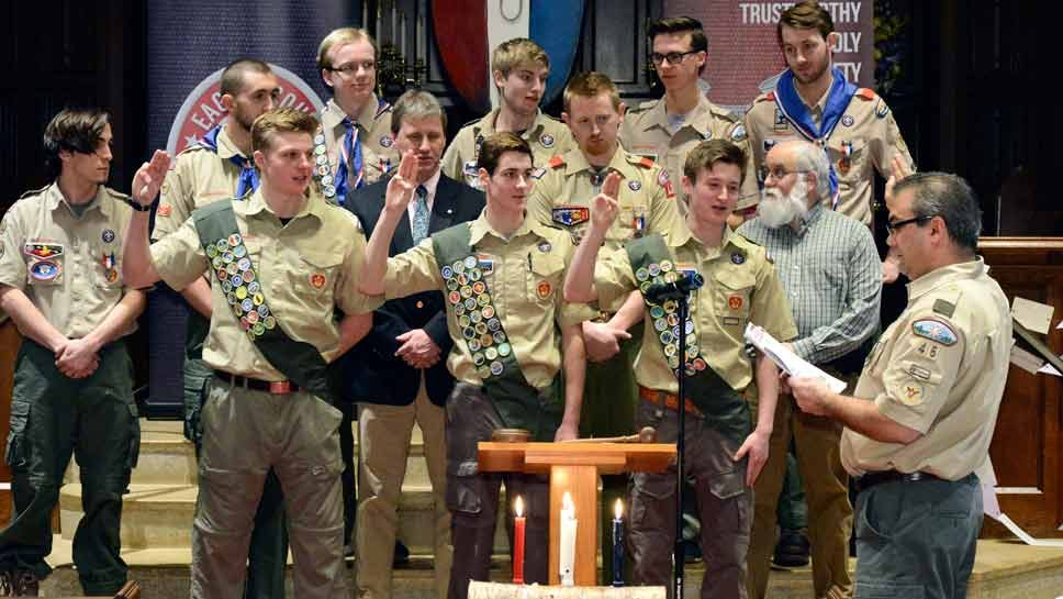 New Eagle Scouts Bonded Young
