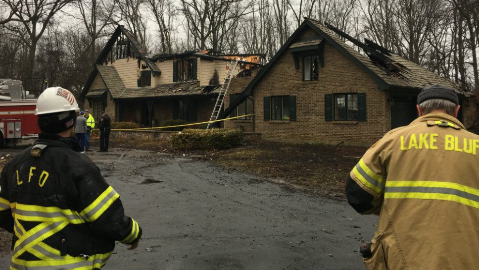 Fire Guts Lake Bluff Home