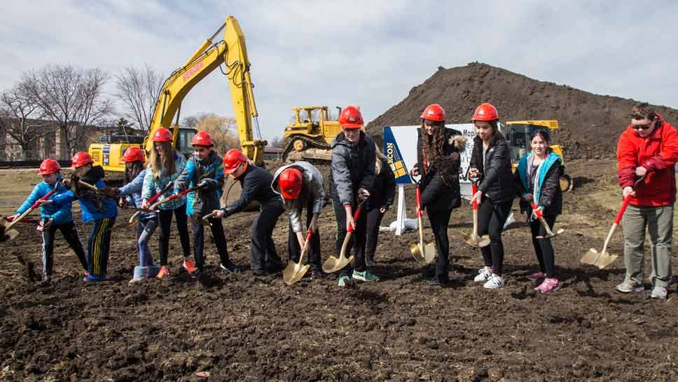 Digging In: Work Begins on New Maple School