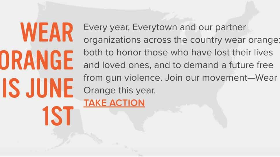Wear Orange For Gun Violence Awareness