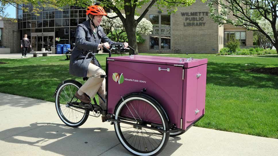 Wilmette Public Library Boasts a Book Bike