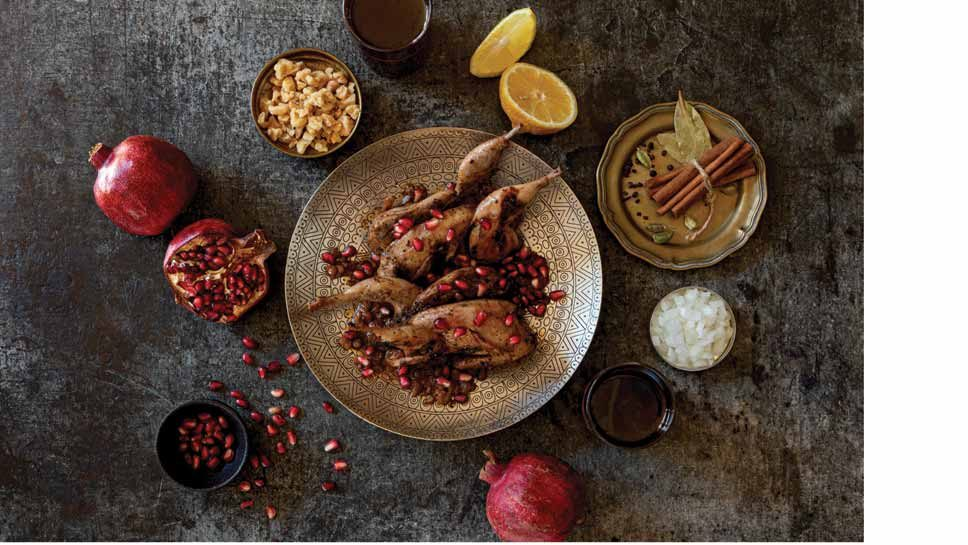 Persian Quail With Pomegranate Walnut Sauce